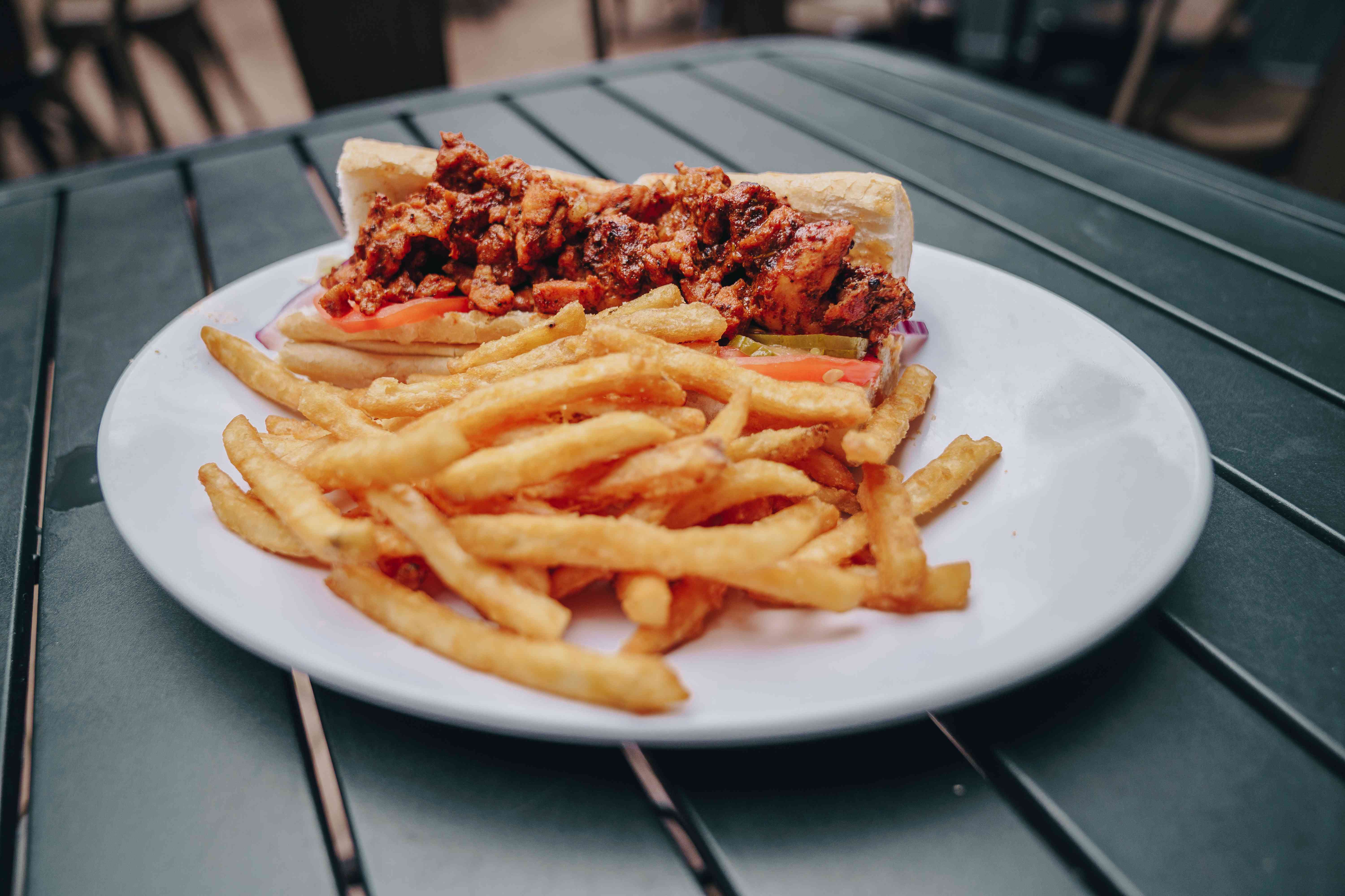 Alligator Poboy and fries