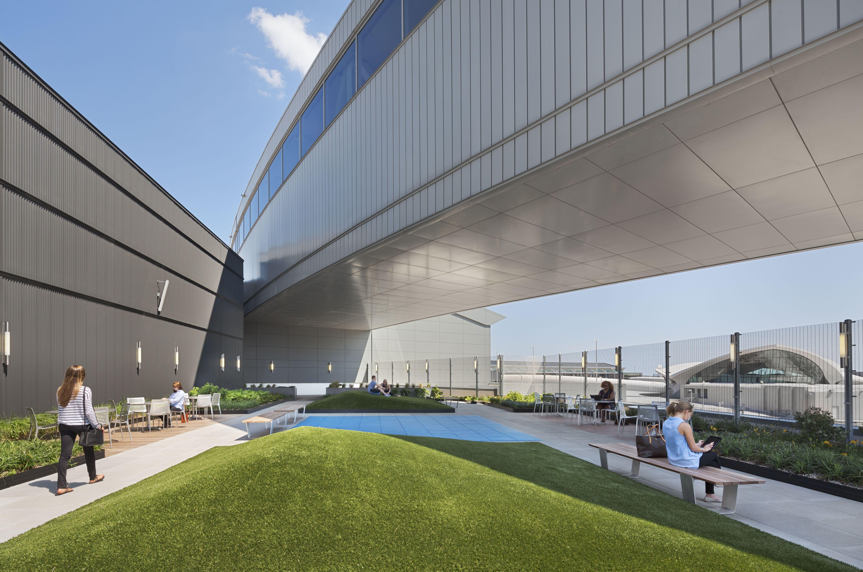 JetBlue's JFK Airport Terminal 5 rooftop deck.