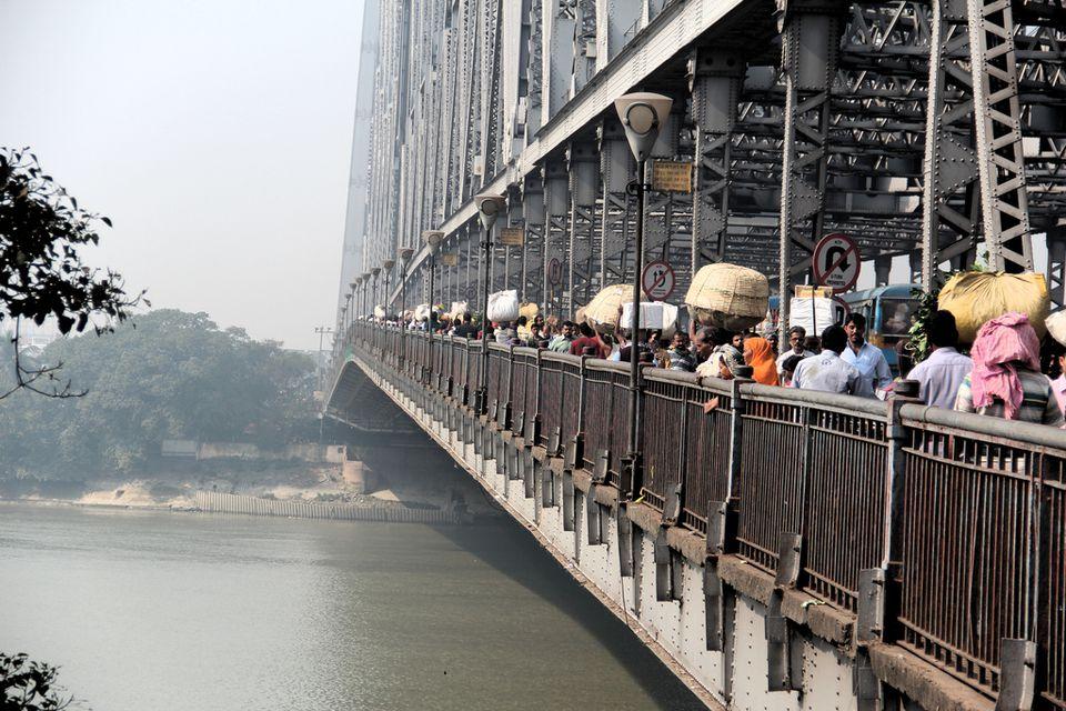 Howrah Bridge, Kolkata.