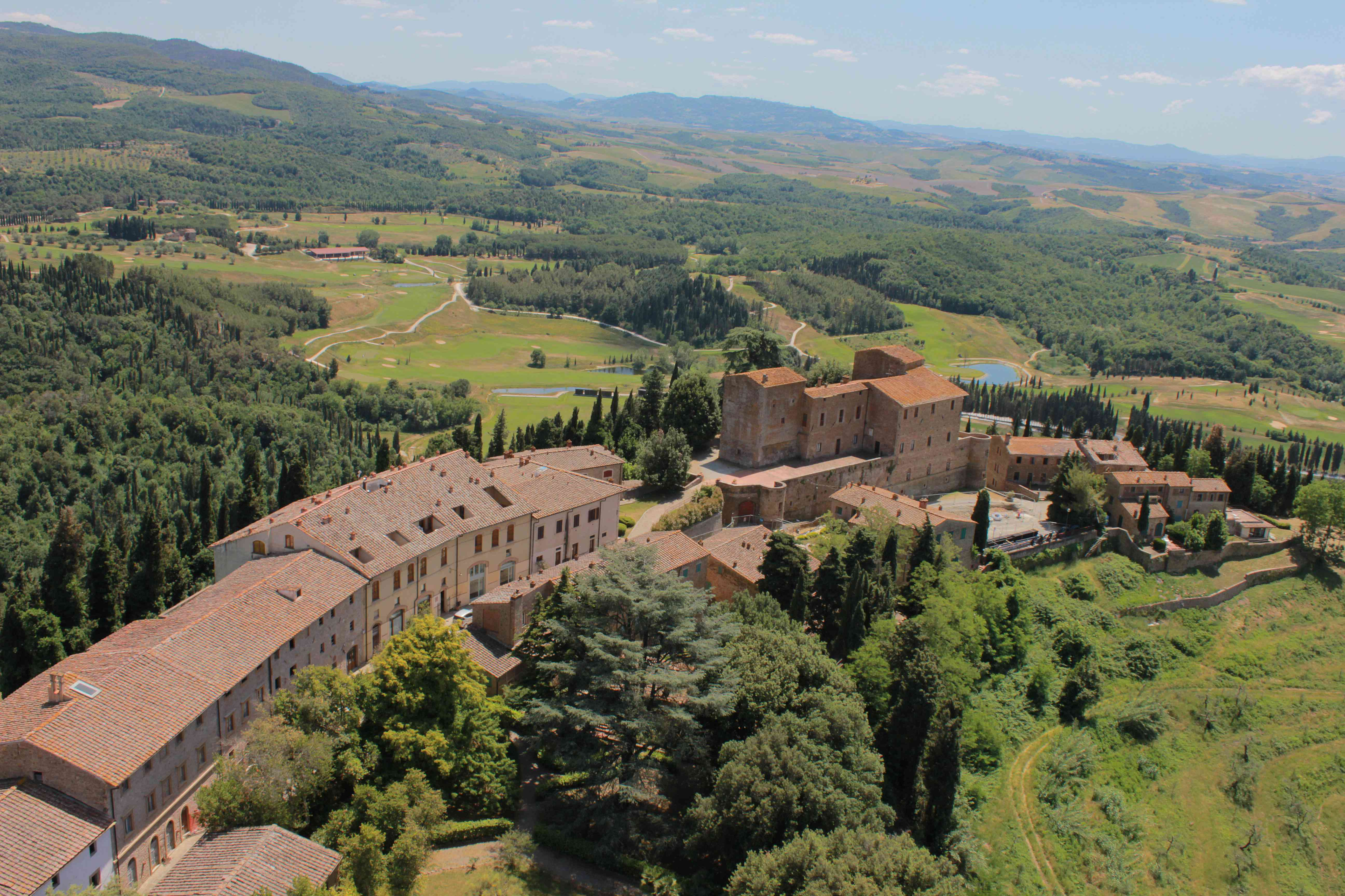 The 2,700-acre Tocana Resort Castelfalfi sits in the Tuscan hills
