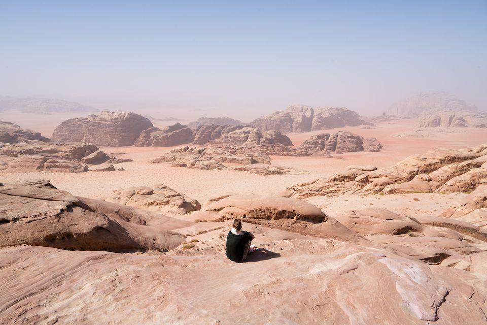 Wadi Rum desert in Saudi Arabia