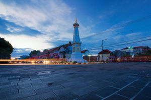 The Tugu monument at the heart of Yogyakarta, Indonesia