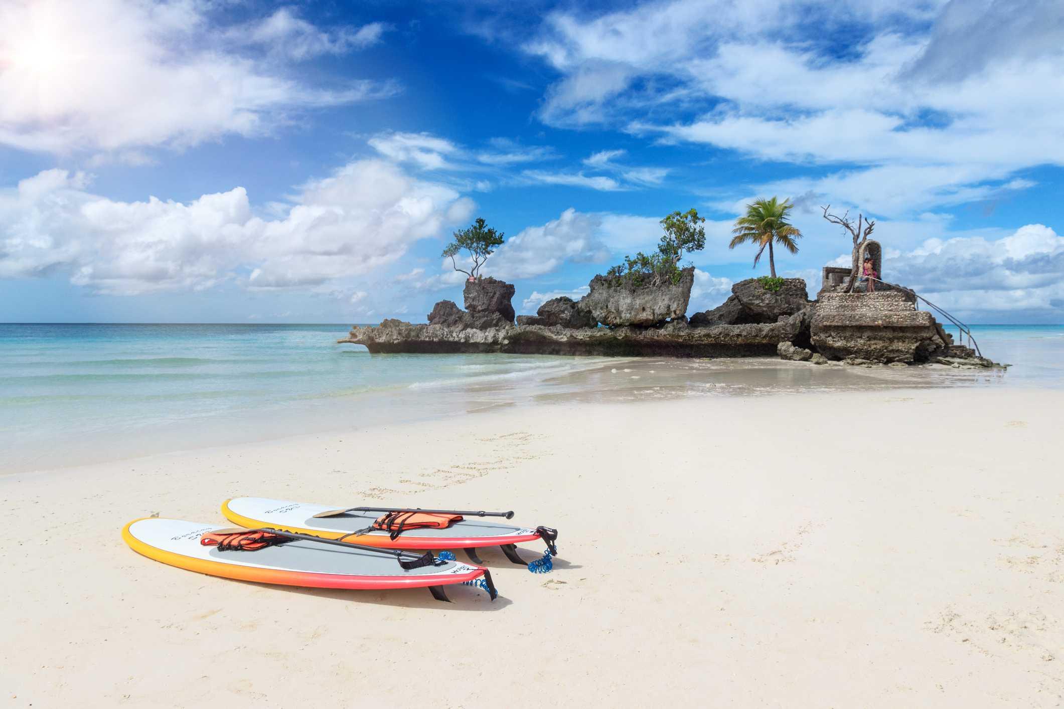 White Beach en la isla de Boracay ha sido votada como una de las playas más hermosas del mundo