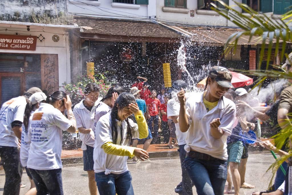 Songkran celebrations in Laos