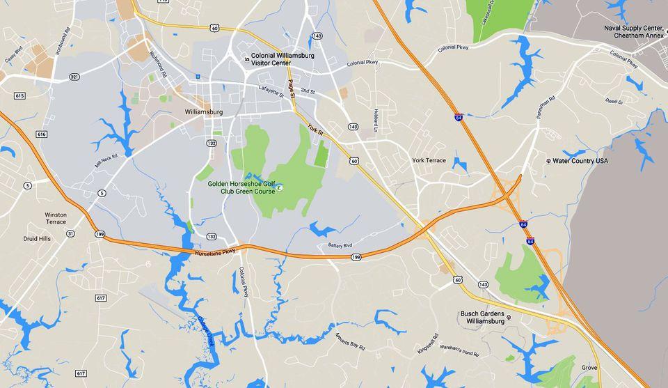 Historic Triangle Maps: Williamsburg-Jamestown-Yorktown