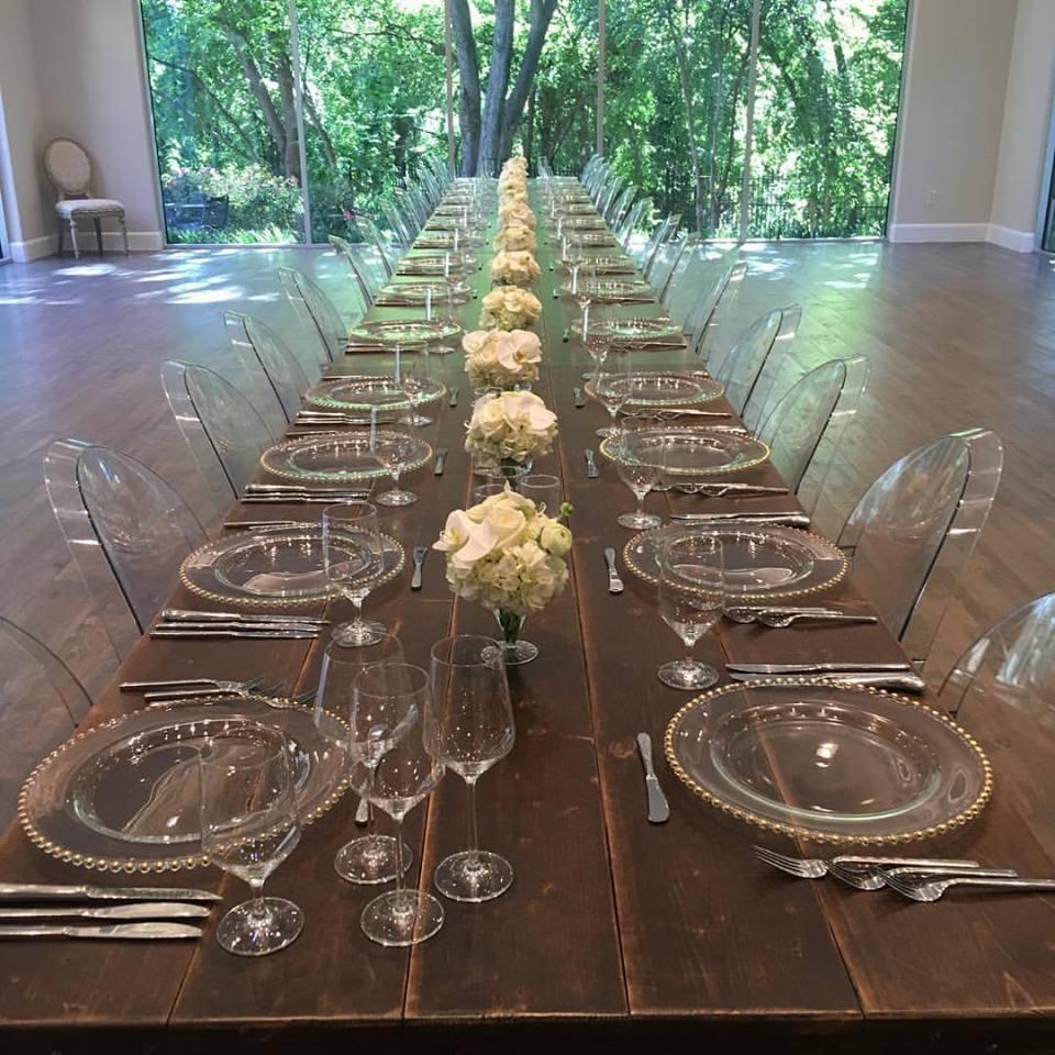 Banquet table at Bonnell's Fine Texas Cuisine