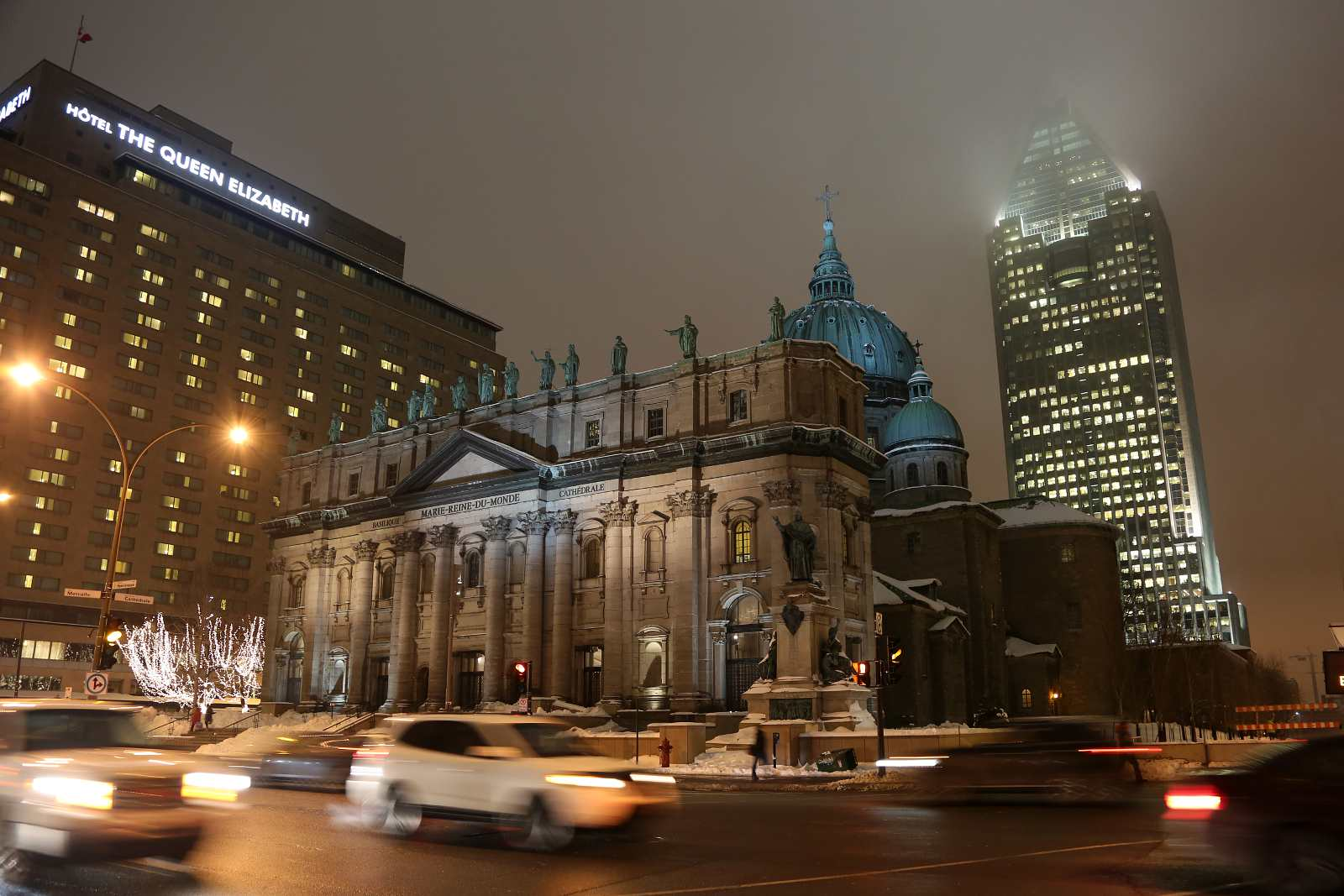 Montreal winter hotels perfectly situated to handle terrible weather include Fairmount Queen Elizabeth.