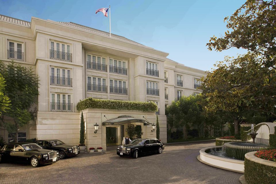 Exterior of The Peninsula Beverly Hills