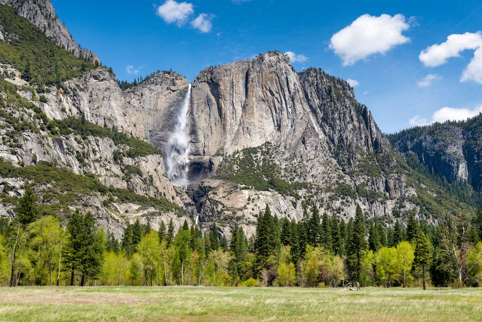Yosemite Falls and Yosemite Point, California, USA