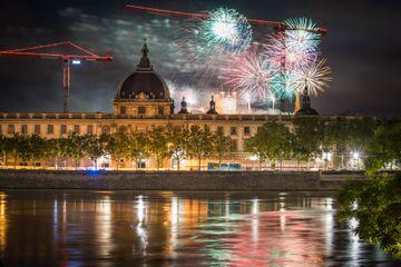 Bastille Day celebration in Lyon, France