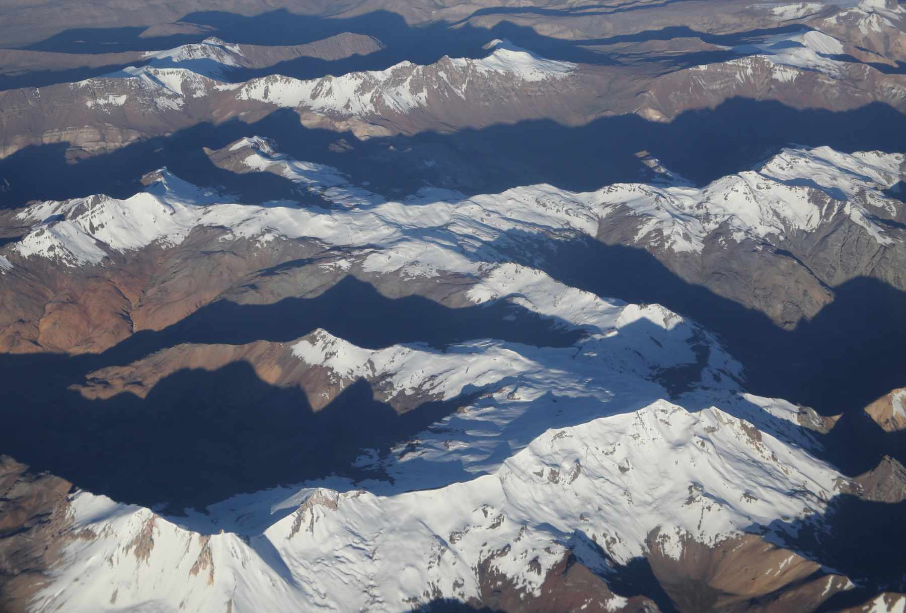 Aerial photo of mountains in Peru.