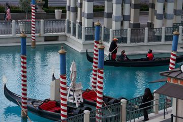 Gondola rides at The Venetian in Las Vegas