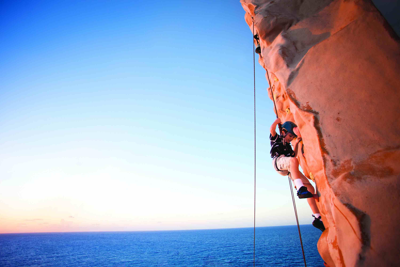 Norwegian Gem cruise ship rock climbing wall