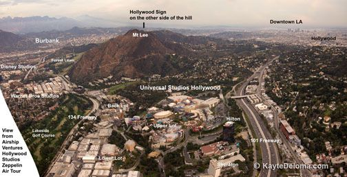 Aerial view of Universal Studios Hollywood