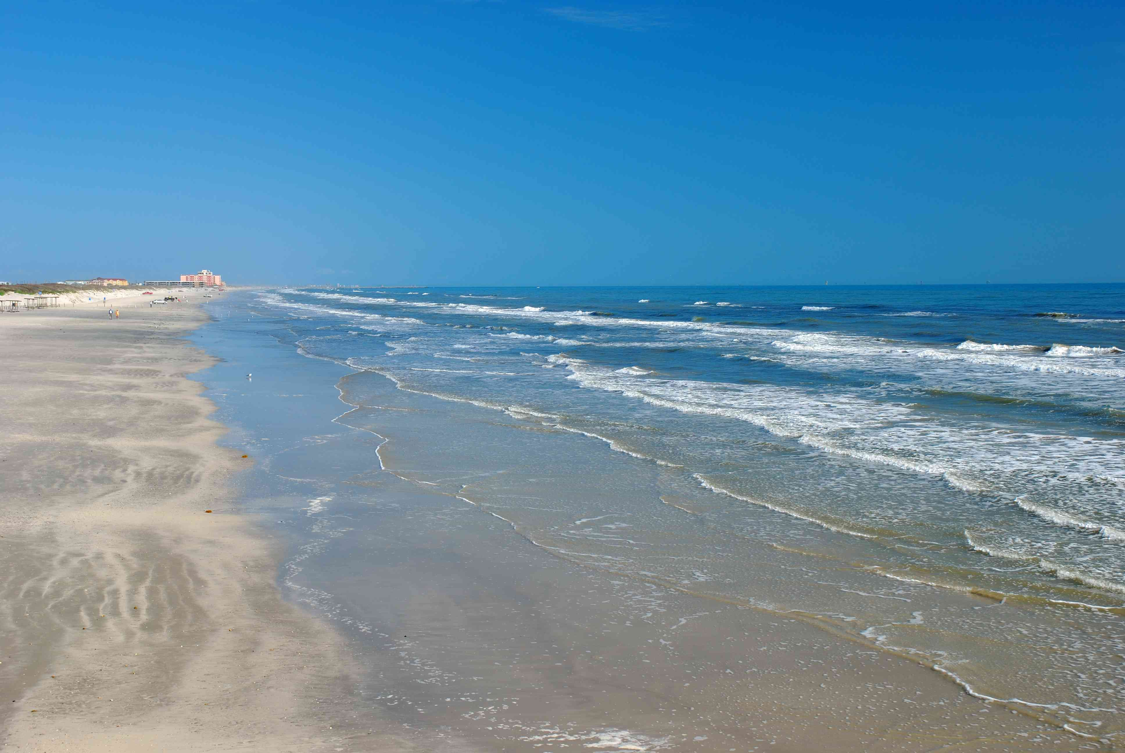 The water and sand at Padre Island.