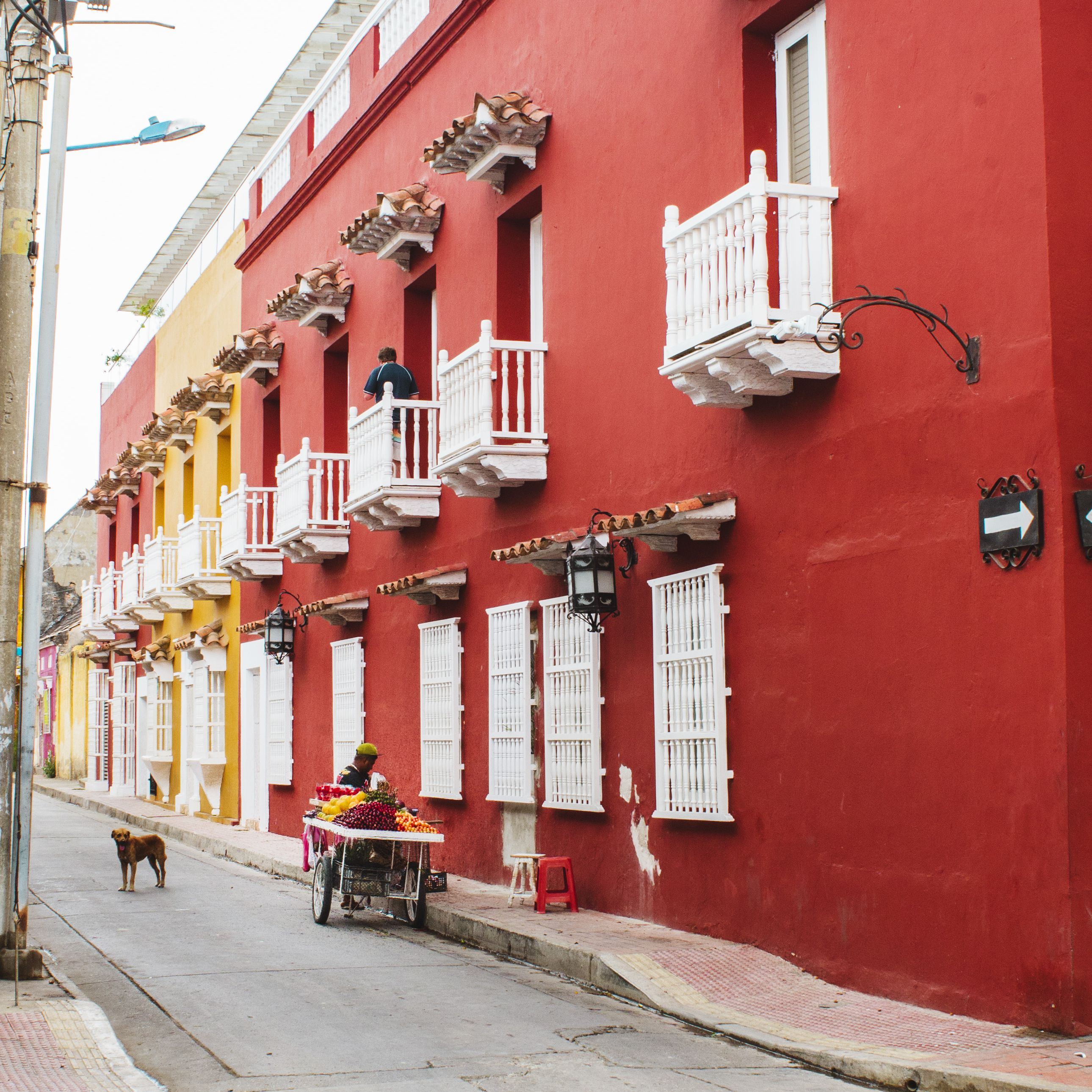 Colorful houses in Cartagena