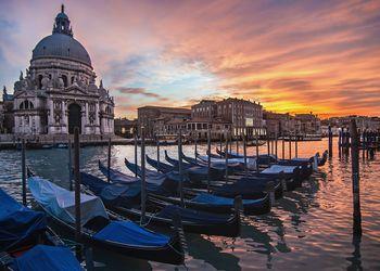 A dramatic sky in Venice, Italy