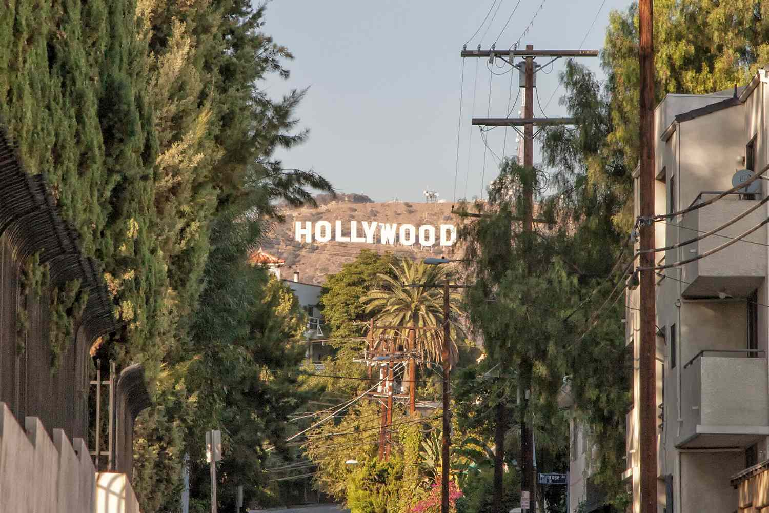 Hollywood Sign From Gower Gulch