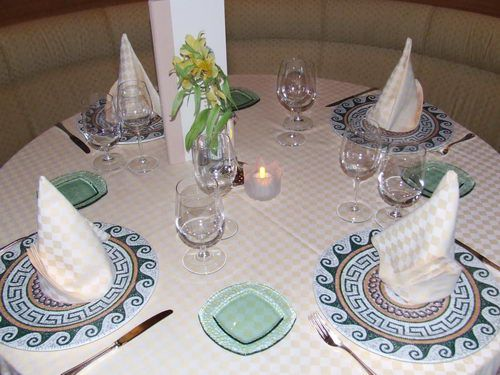 Table Setting in Sabatini's Restaurant on the Emerald Princess