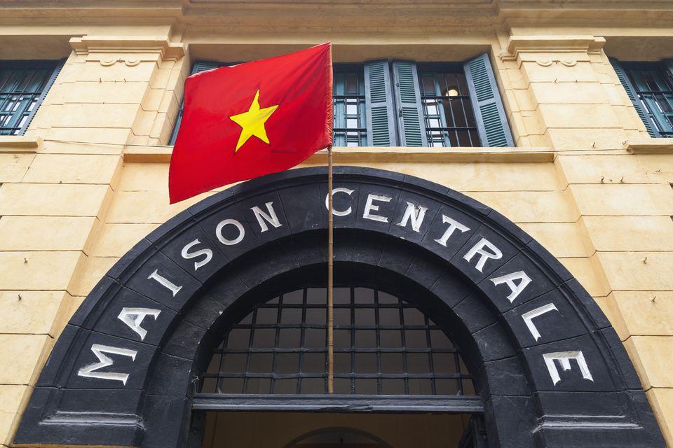 Vietnam Hanoi Hoa Lo Prison Museum Exterior