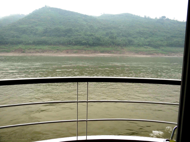 Yangtze River view from Viking Emerald balcony cabin