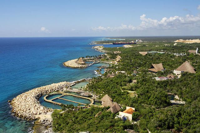Aerial View of Xcaret