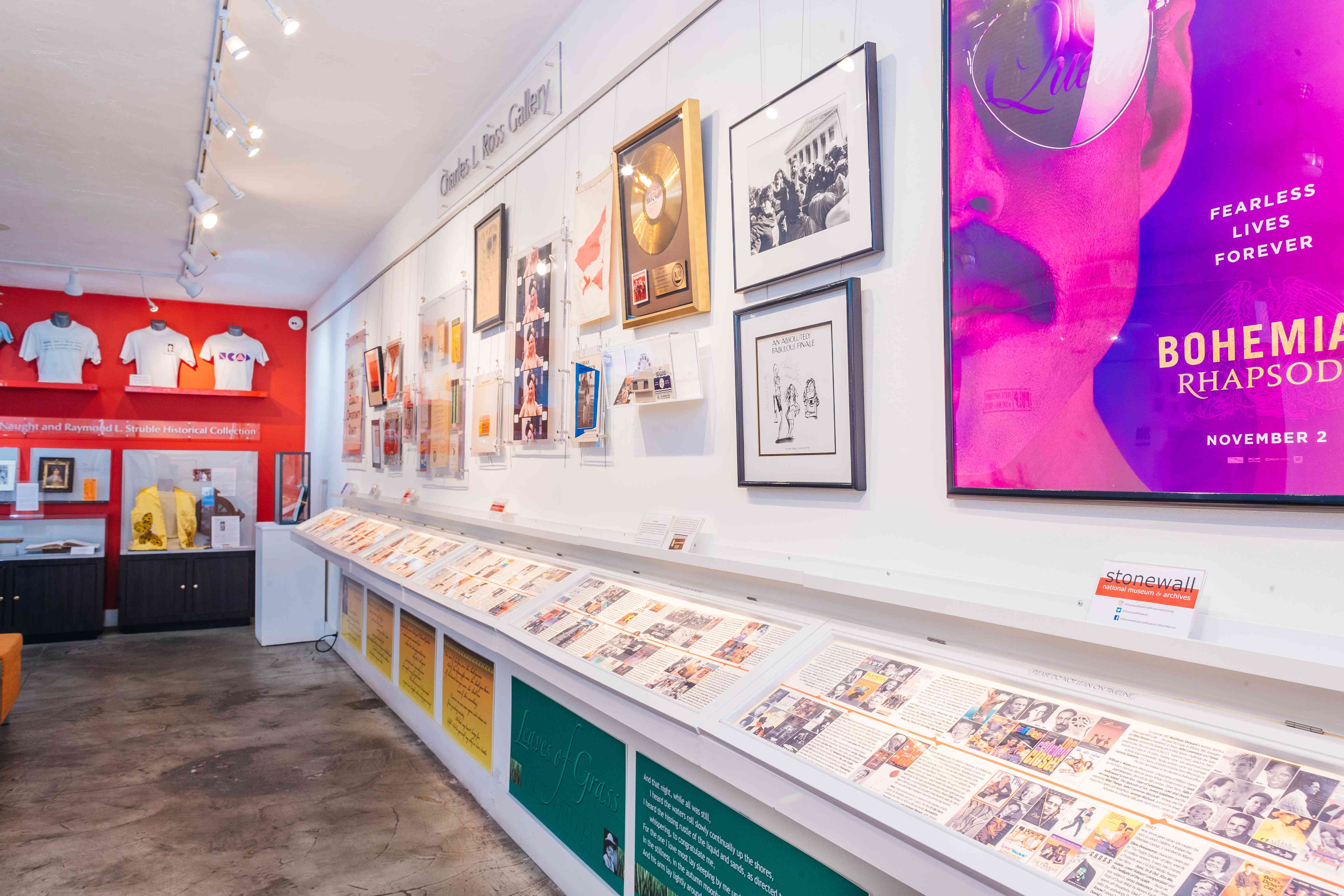 LGBT+ memorabilia at the Stonewall National Museum & Archives