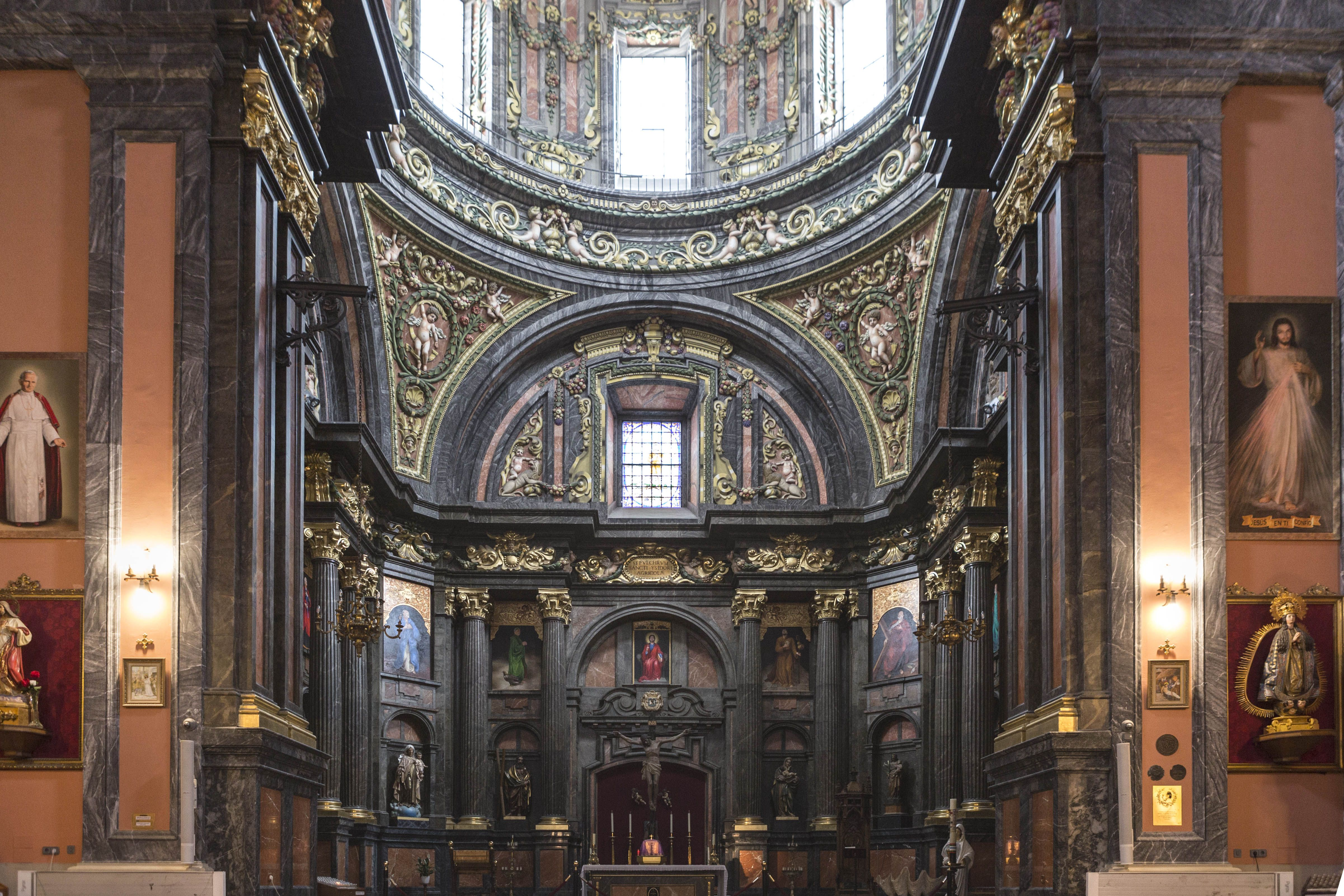 A cathedral in madrid