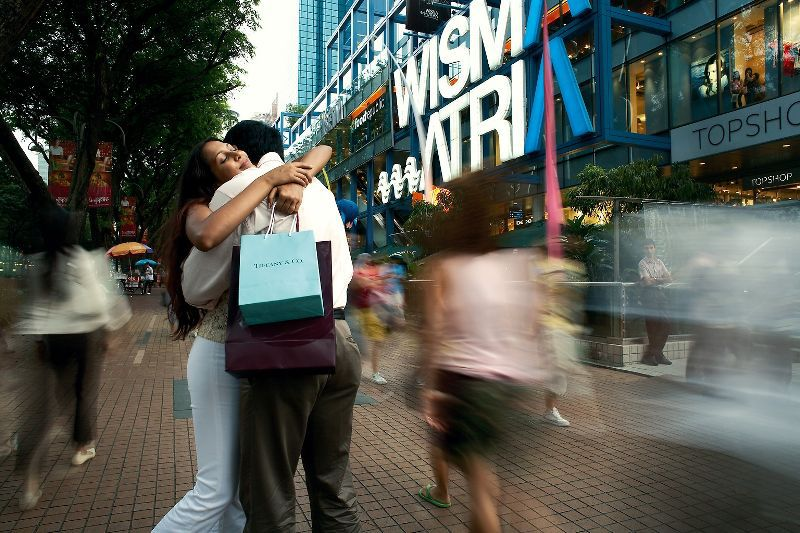 Shoppers along Wisma Atria, Orchard Road, Singapore