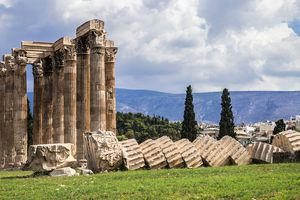 Temple of Olympian Zeus colossal ruined temple in central Athens