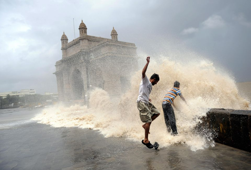 Monsoon at Gateway of India, Mumbai.