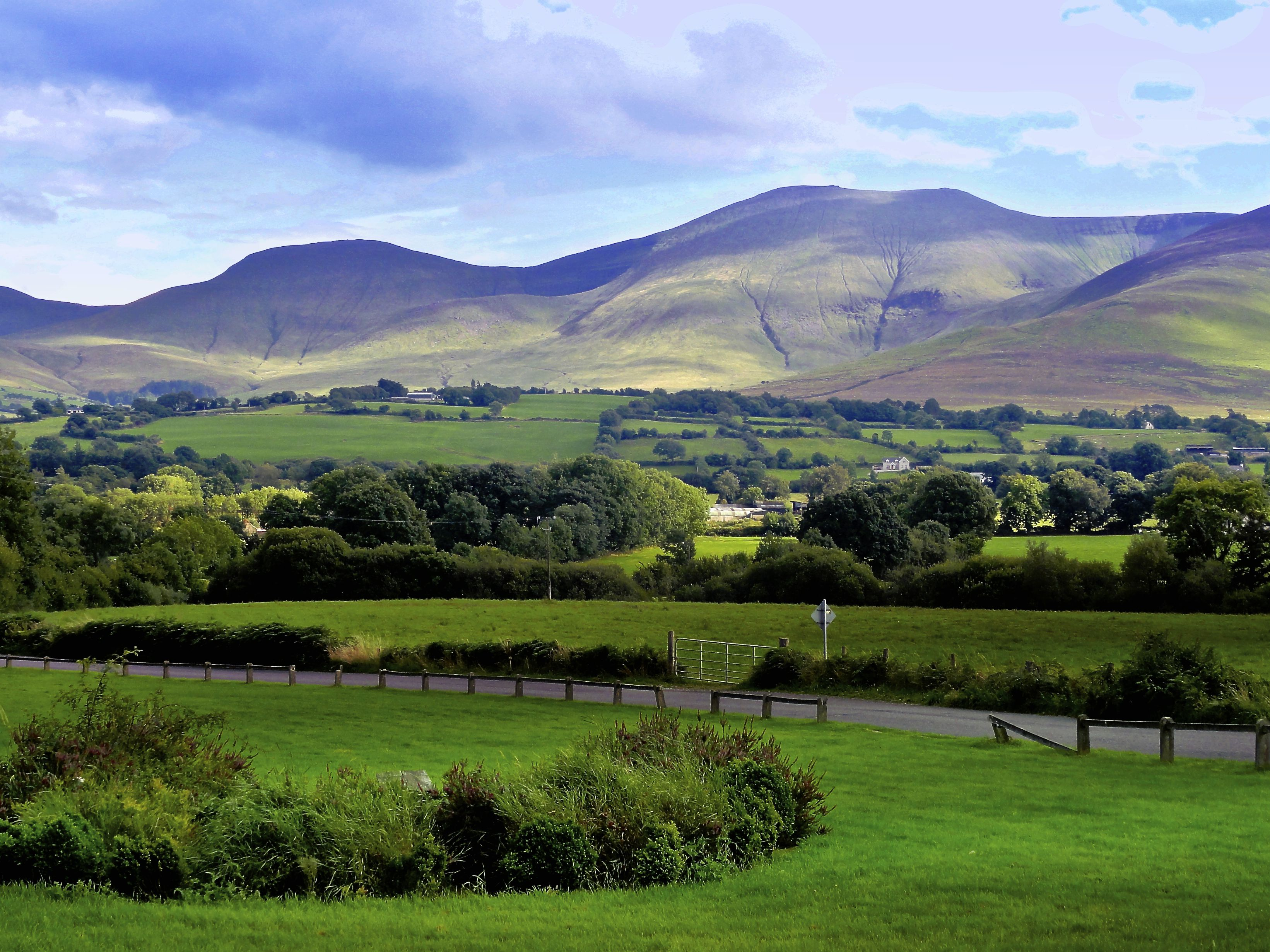 Galtymore mountains in Ireland