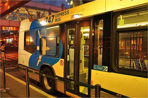 Montreal airport bus 747 runs 24 hours a day seven days a week, from downtown Montreal to Montreal-Trudeau airport and vice versa.