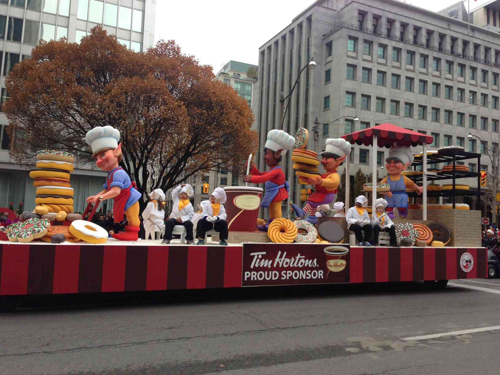 Tim Horton's in Toronto's Santa Claus Parade