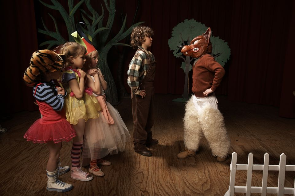 Children doing theater