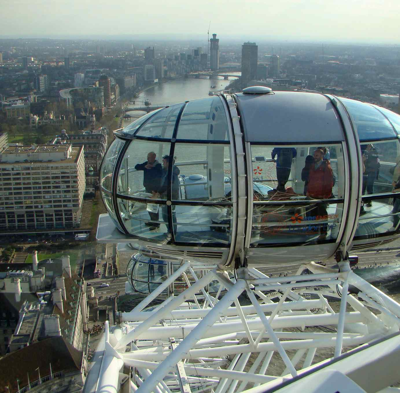 On top of the london eye