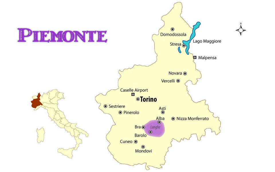 Langhe Italy Map.Map Of Piemonte Italy Cities And Travel Guide