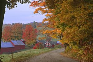 Jenne Farm in the Fall - Famous Vermont Farm