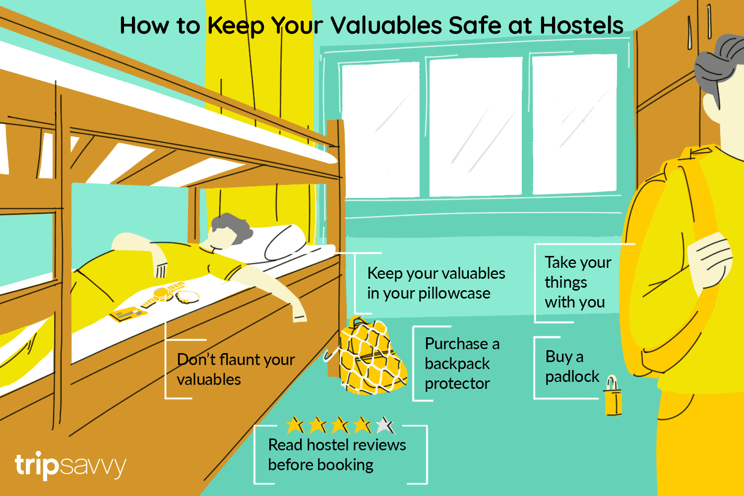 6 Ways to Keep Your Things Safe in Hostels