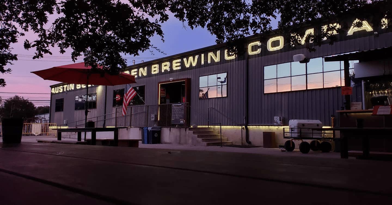 Exterior of the Austin Beer Garden Brewing Company