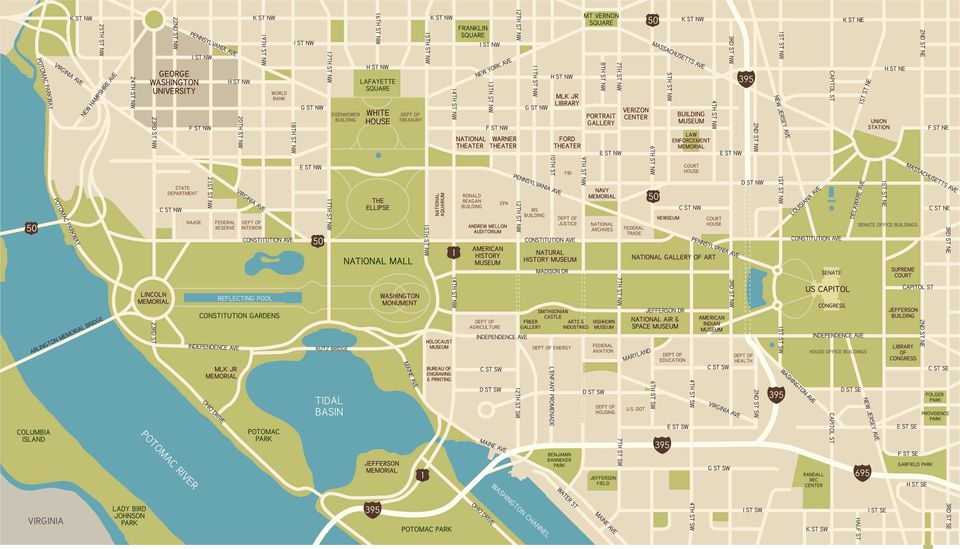 Washington, D.C. National Mall Maps, Directions, and Information