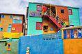 El Caminito, a a traditional alley located in La Boca, a neighborhood of Buenos Aires