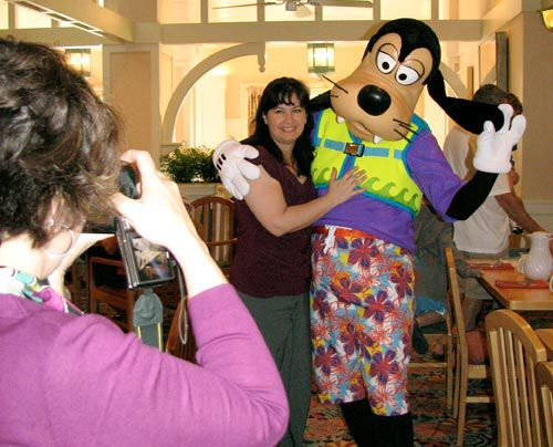 Goofy at Disney World restaurant.