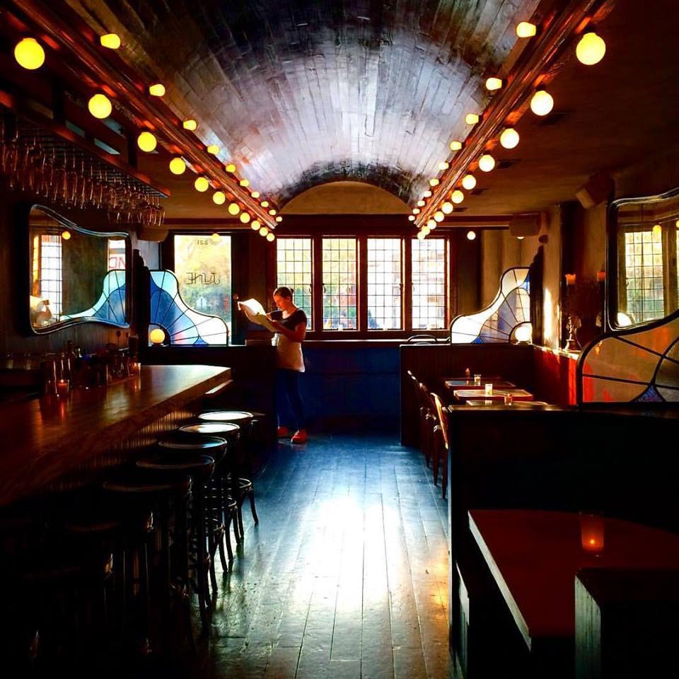 the interior of June Wine bar