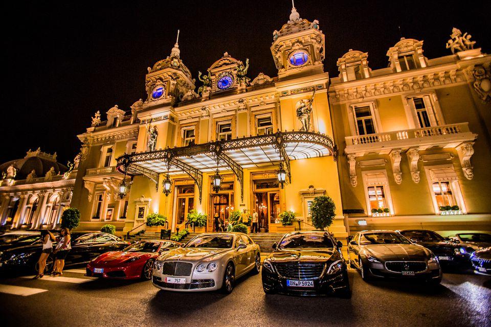 Casino at night, Monaco, Europe