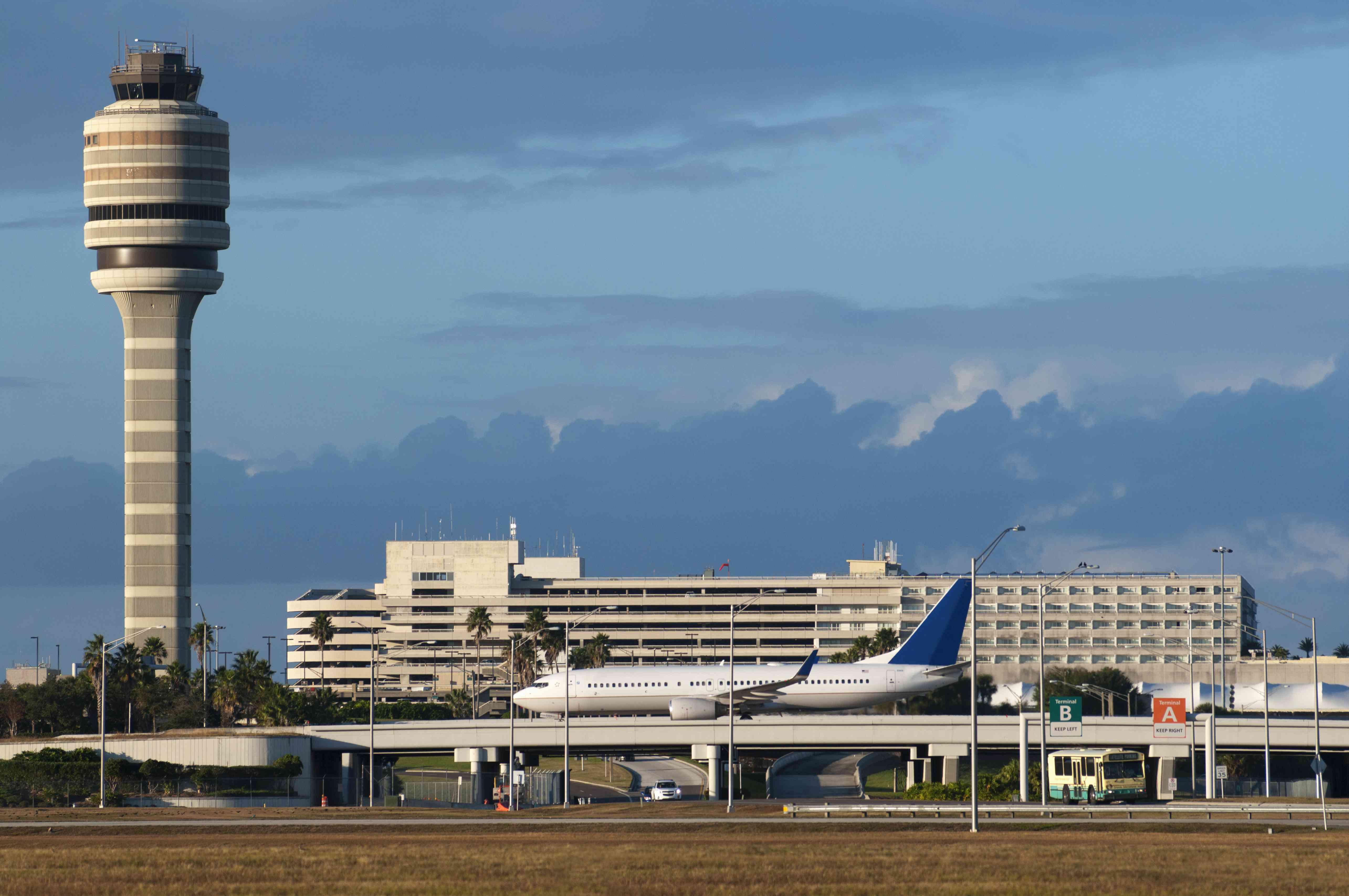 Control tower at Orlando International Airport.