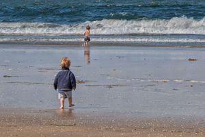 Young Beachgoers at La Jolla Shores
