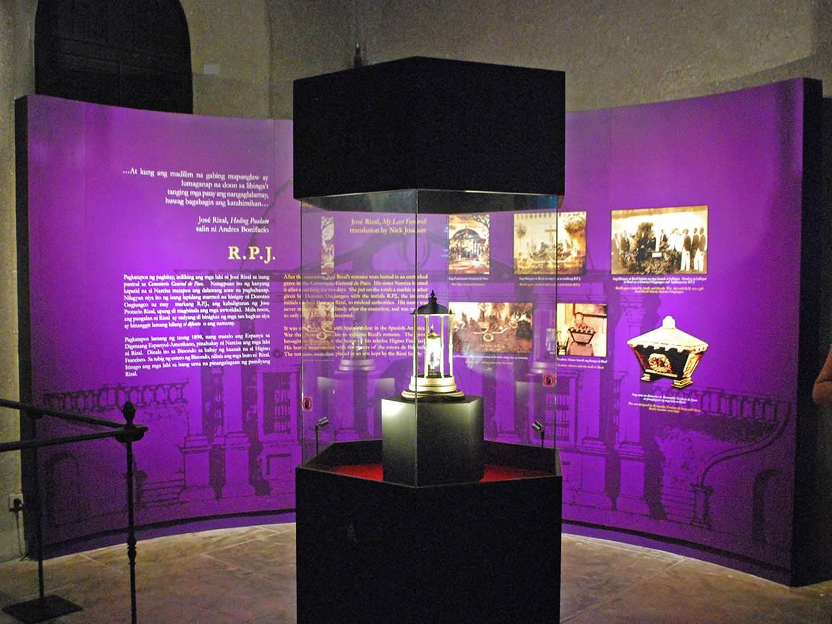 Relic of Jose Rizal's vertebra, Rizal Shrine, Fort Santiago