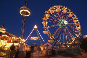 USA, Texas, Galveston Bay, Kemah Boardwalk, night