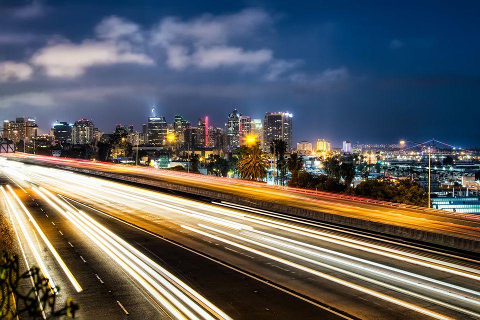 San Diego Freeway at Night